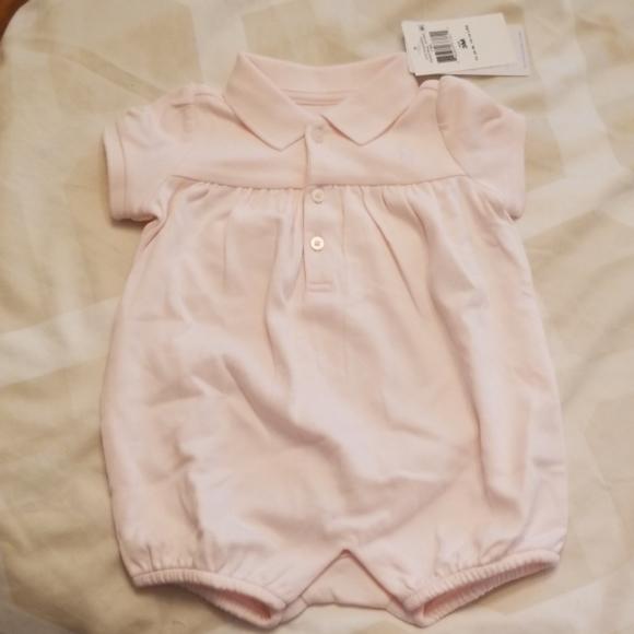 Ralph Lauren Other - NWT Ralph Lauren Pink Baby Girl Romper 3M